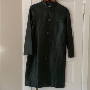 Calvin Klein Dark Green Leather Jacket